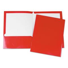 UNV56420 - Laminated Two-Pocket Folder