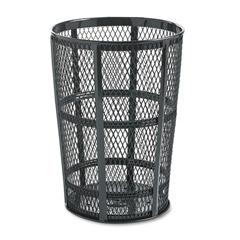 RCPSBR52BK - Steel Street Basket Waste Receptacle