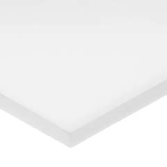 USABULK-PS-AC-412 - USA Sealing - White Acetal Plastic Sheet - 1 Thick x 8 Wide x 48 Long