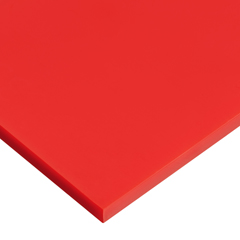 USAPS-CACC-9 - USA Sealing - Red Cast Acrylic Plastic Sheet - 1/4 Thick x 48 Wide x 96 Long