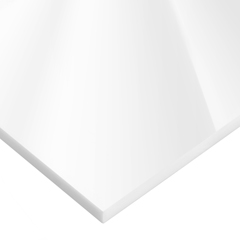 USAPS-CACC-98 - USA Sealing - White Cast Acrylic Plastic Sheet - 1/8 Thick x 48 Wide x 48 Long