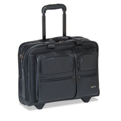 USLD9574 - SOLO® Rolling Leather Laptop Case