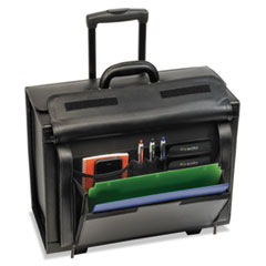 USLD9784 - SOLO® Leather Rolling Laptop Catalog Case
