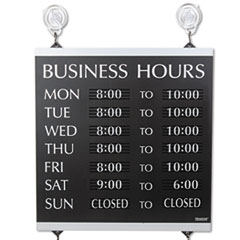 USS4247 - Headline® Sign Century Series Business Hours Sign