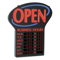 USS6093 - Newon® LED Open Sign with Business Hours