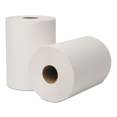 WAU146500 - EcoSoft Hardwound Roll Towels, 8 in x 425ft, White, 12 Rolls/Carton