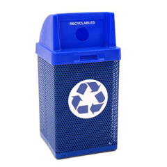WAUMF3058 - Wausau TileMetal Armor Outdoor Recycling Container