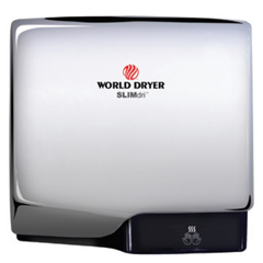 WDRL-970A - World DryerSLIMdri, Aluminum Polished/Chrome, Surface-Mounted ADA Compliant Hand Dryer