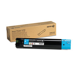 XER106R01507 - Xerox 106R01507 Toner, 12,000 Page-Yield, Cyan