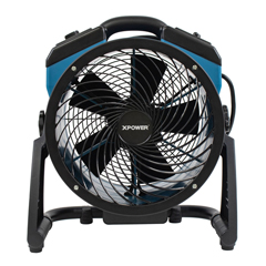 XPOFC-150B - XPOWER - 1000 CFM Variable Speed 11 Brushless DC Motor Rechargeable AC/DC Whole Room Air Circulator Utility Fan