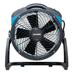 XPOFC-250AD - XPOWER - 1560 CFM Variable Speed Pro 13 Brushless DC Motor Air Circulator Utility Fan with Built-in Power Outlets