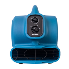 XPOP-230AT-Blue - XPOWER - 1/4 HP 925 CFM Multi-Purpose Mini Mighty Air Mover, Utility Fan, Dryer, Blower with Built-in Power Outlets and Timer