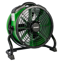 XPOX-34AR-Green - XPOWER1/4 HP 1720 CFM Variable Speed Sealed Motor Industrial Axial Air Mover