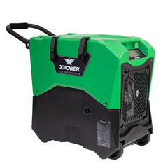 XPOXD-85LH-Green - XPOWER - 145-Pint LGR Commercial Dehumidifier with Automatic Purge Pump, Drainage Hose, Handle and Wheels for Water Damage Restoration, Clean-up Flood, Basement, Mold, Mildew - Green