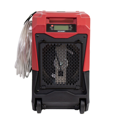 XPOXD-85LH-Red - XPOWER - 145-Pint LGR Commercial Dehumidifier with Automatic Purge Pump, Drainage Hose, Handle and Wheels for Water Damage Restoration, Clean-up Flood, Basement, Mold, Mildew - Red