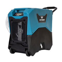 XPOXD-85LH - XPOWER - 145-Pint LGR Commercial Dehumidifier with Automatic Purge Pump, Drainage Hose, Handle and Wheels for Water Damage Restoration, Clean-up Flood, Basement, Mold, Mildew