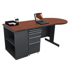 MLGZTCB7530_DT_CC - Marvel GroupTeachers Conference Desk w/Bookcase