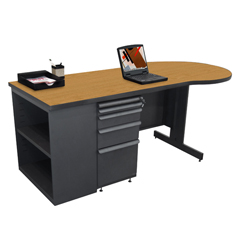 MLGZTCB7530_DT_SO - Marvel GroupTeachers Conference Desk w/Bookcase