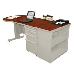MLGZTCB7530_FT_CC - Marvel GroupTeachers Conference Desk w/Bookcase