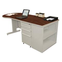 MLGZTCB7530_FT_FM - Marvel GroupTeachers Conference Desk w/Bookcase
