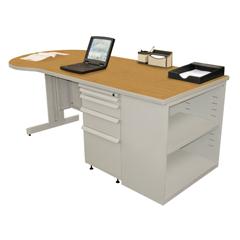 MLGZTCB7530_FT_SO - Marvel GroupTeachers Conference Desk w/Bookcase