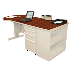 MLGZTCB7530_UT_CC - Marvel GroupTeachers Conference Desk w/Bookcase