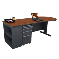 MLGZTCB8730_DT_CC - Marvel GroupTeachers Conference Desk w/Bookcase