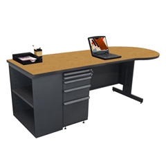 MLGZTCB8730_DT_SO - Marvel GroupTeachers Conference Desk w/Bookcase