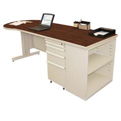 MLGZTCB8730_UT_FM - Marvel GroupTeachers Conference Desk w/Bookcase