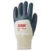 Ansell Edge Nitrile Gloves, Knit Wrist Cuff, Interlock Knit Lined, Size 9, Black ANS 012-40-400-9