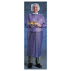 Protection Apparel: Ansell - Coat Apron, 8 Mil, Vinyl, Large, Blue