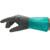 Ansell Alphatec Gloves, Size 8, 12 In, Black/Teal ANS 012-58-530B-080