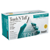 Ansell Touch N Tuff Disposable Gloves, Powder Free, Nitrile, 4 Mil, 7.5 - 8, Green ANS 012-92-600-7.5-8
