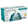 Ansell Touch N Tuff Disposable Gloves, Powder Free, Nitrile, 4 Mil, 8.5 - 9, Green ANS 012-92-600-8.5-9
