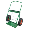Anthony Low-Rail Frame Dual-Cylinder Carts, Holds 9.5-15 Dia., 16 In Pneumatic Wheels ORS 021-2-16