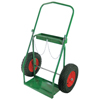 Anthony Low-Rail Frame Dual-Cylinder Carts, Holds 9.5 Cylinders, 16 Pneumatic Wheels ORS 021-8-16
