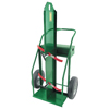 Anthony Heavy-Duty Frame Dual-Cylinder Cart, For 9.5 Cylinders, 16 Solid Rubber Wheels ORS 021-84LFW-16S