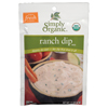 Simply Organic Ranch Salad Dressing BFG 53434