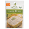 Simply Organic Creamy Dill Dip Mix BFG 53431