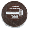 Plymouth Bishop Friction Tapes, 2 In X 70 Ft, 0.015 In, Brown ORS 040-1057