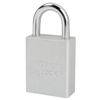 American Lock Solid Aluminum Padlocks, 1/4 In Diam., 3 In L X 3/4 In W, Black AML 045-A1107BLK-KD