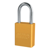 American Lock Solid Aluminum Padlocks, 1/4 In Diam., 1 1/2 In Long, Yellow AML 045-1106YLW-KD