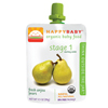 snacks: Happy Baby - Pear Pouch Starting Solids