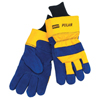 Safety-zone-leather-gloves: Honeywell - North Polar Insulated Leather Palm Gloves, Large, Cowhide, Blue, Yellow