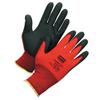 Safety-zone-nylon-gloves: Honeywell - Northflex Red-X Gloves, Large, Red/Black