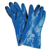 Honeywell Nitri-Knit Supported Nitrile Gloves, Elastic, Interlock Lined, Size 10, Blue FND 068-NK803ESIN/10