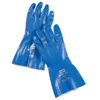 Honeywell Nitri-Knit Supported Nitrile Gloves, Pinked Cuff, Interlock Lined, Size 8, Blue FND 068-NK803/8