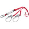 Protecta Pro Shock Absorbing Lanyard, 6 Ft, Rebar Hook Connection, 2 Legs PRT 098-1340180