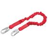 Protecta Pro Shock Absorbing Lanyard, 6 Ft, Self-Locking Connection, Snap Hook, 1 Leg PRT 098-1341001
