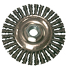 Anchor Brand Stringer Bead Wheel Brush, 4 In D X 4 In W, 0.02 In Carbon Steel Wire ANR 102-4S58